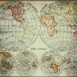World Map 1882