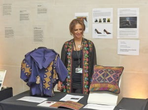 O'bour Hashash  (Palestine, ITP 2014) with her exhibition proposal display.