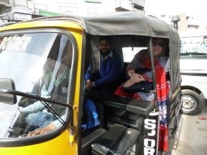 Traveling by auto rickshaw in Amritsar