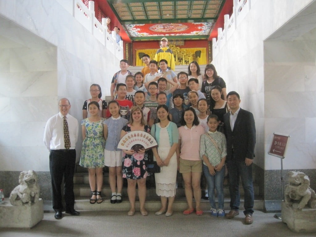 Xuzhou Primary School Children after workshop at Imperial Decree Museum_Photo courtesy of Tullie House Museum