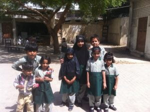 Visit to a school in Karachi, one of the possible sites for the Karachi Biennial in 2017