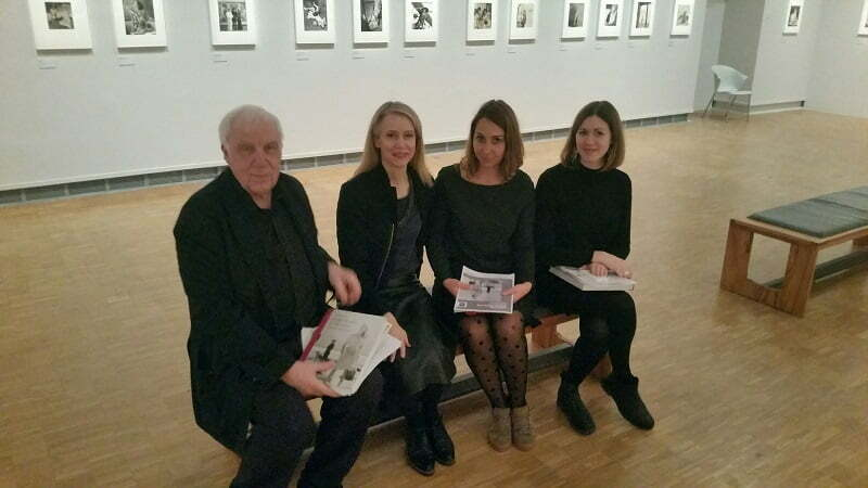 Terence Pepper, Photographs Curator; Celia Joicey, Head of Fashion & Textile Museum; Natacha FILIOL, Head of Exhibitions, Montpellier; Beth Ojari, Exhibition Designer, Fashion & Textile Museum, Pavillon Populaire, Montpelier, 15 December 2016
