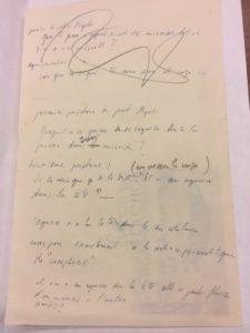 Dali manuscript for Narcissus