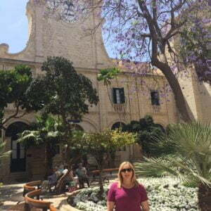 Hannah Agass outside the Gand Master's Palace, Valletta