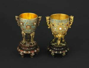 The 'Gold Cups of Eternal Stability', China, Qing dynasty (1644–1911), Qianlong period (1736–95), 1739/40 and 1740/41, © The Wallace Collection